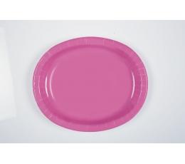 Taldrikud, roosad ovaalsed (8 tk / 30 cm)