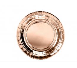 Taldrikud, roosakas kuldsed (6 tk / 18 cm)