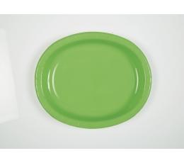 Taldrikud, salatiroheline ovaalsed (8 tk./30 cm)