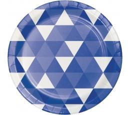 """Taldrikud """"Sinised kujundid"""" (8 tk./18 cm)"""