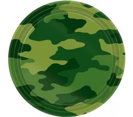 """Taldrikud """"Sõjaline kamuflaaž"""" (8 tk./18 cm)"""