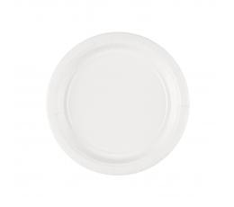 Taldrikud, valged (8 tk / 17 cm)