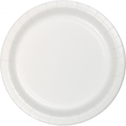 Taldrikud, valged (8 tk / 22 cm)