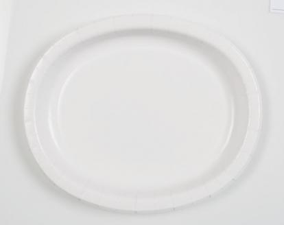 Taldrikud,  valged ovaalsed (8 tk / 30 cm)