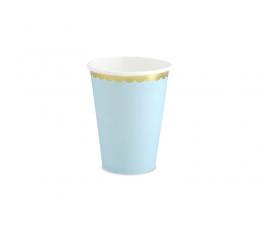 Tassid, helesinised kuldse äärega (6 tk./220 ml)