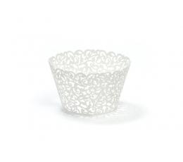 Tassikoogi dekoratsioonid, valged (10 tk)