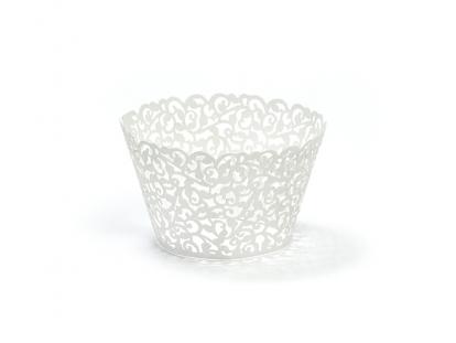Tassikoogi dekoratsioonid, valged nikerdatud (10 tk)