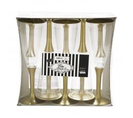 Taurės šampanui, auksinės (10 vnt.)