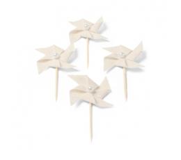 """Tikud-dekoratsioonid , linasest """"Tuuleveskid"""" (4 tk./4 cm)"""