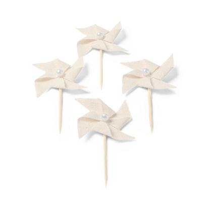 """Suupistetikud-dekoratsioonid , linasest """"Tuuleveskid"""" (4 tk./4 cm)"""