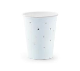 Topsid, helesinised - hõbedaste tähekestega (6 tk./260 ml)