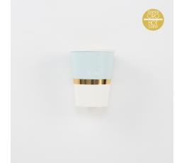 Topsid, helesinised kuldsega triibuga (8 tk./250 ml)