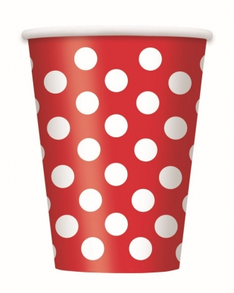 Topsid, punased valgete täppidega (6 tk./355 ml)