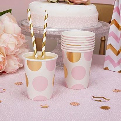 Topsid,  roosa-kuldse täpilised (8 tk./266 ml)