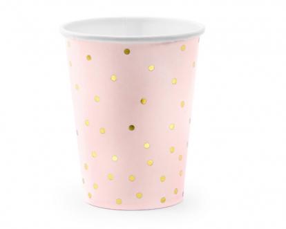 Topsid, roosad kuldsete täppidega (6 tk / 260 ml)