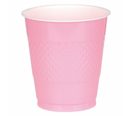 Topsid, roosad plastikust (10 tk / 355 ml)
