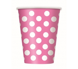 Topsid, roosad valgete täppidega (6 tk./355 ml)