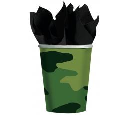 """Topsid """"Sõjaline kamuflaaž"""" (8 tk / 266 ml)"""