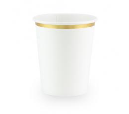 Topsid, valged kuldse äärisega (6 tk / 260 ml)