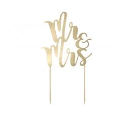 """Tordikaunistus  """"Mr&Mrs"""", kuldne"""