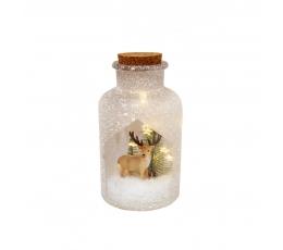 """Valgustatud dekoratsiooni pudel """"Hirv"""" (10x19,5 cm)"""