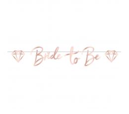 """Vanik """"Bride to be"""", roosakas-kuldne (1,5 m)"""