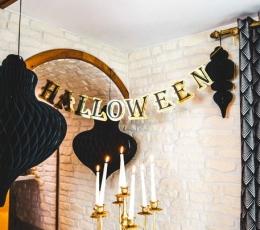 """Vanik  """"Halloween"""", kuldne/must (13,5cmx 3m) 1"""