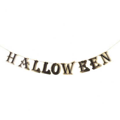 """Vanik  """"Halloween"""", kuldne/must (13,5cmx 3m)"""