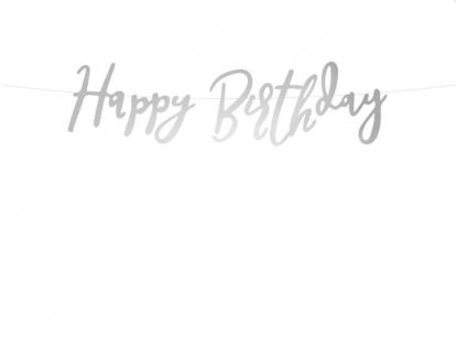 "Vanik ""Happy Birthday"", hõbedane (62 cm)"