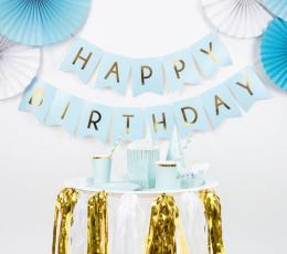 """Vanik """"Happy Birthday"""", helesinine-kuldne (1,75 m) 1"""