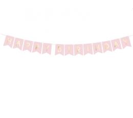 "Vanik ""Happy Birthday"", roosa-kuldsega (1,75 m)"