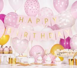 "Vanik ""Happy Birthday"", roosa-kuldsega (1,75 m) 1"