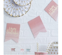"Vanik ""Happy birthday"", roosa kuldsega(3 m)"