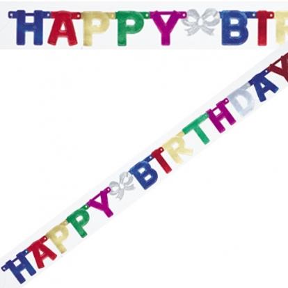 "Vanik ""Happy Birthday"", värviline (1,5 m)"