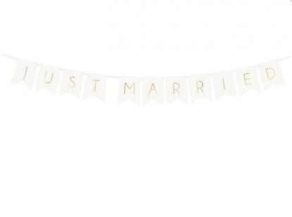 """Vanik """"Just Married"""", valge-kuldsega (1,55 m)"""