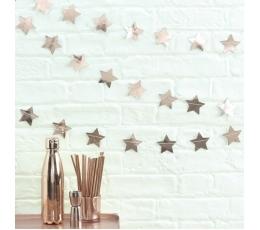 """Vanik """"Roosakas kuldsed tähed (5 m)"""
