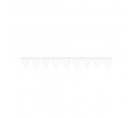 Lipuvanik, valge, värviliste täppidega (2,74 m)