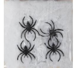 Ämblikuvõrk koos ämblikutega, valge (500 g.)