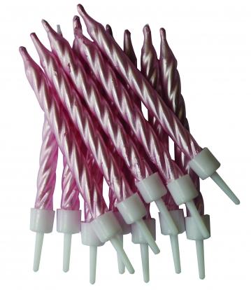 Küünlad, pärlmutter roosad (12 tk.)