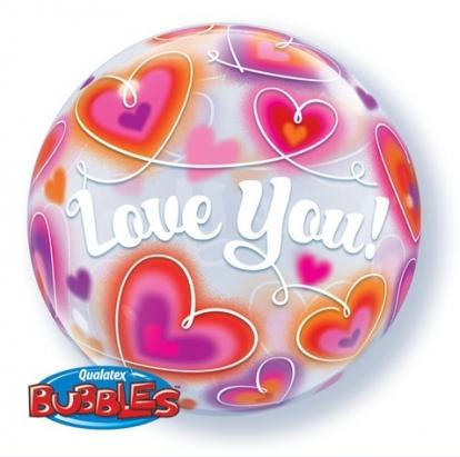 "Õhupall-pall  ""Love you"" (22"" 56 cm.)"