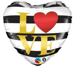"""Fooliumist õhupall """"Triibuline - Love"""" (46 cm)"""