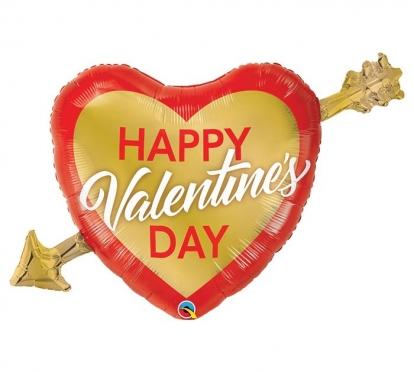 "Fooliumist õhupall ""Happy Valentine's day"" (99 cm.)"