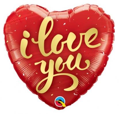 "Fooliumõhupall ""I love you""/süda(18"" 46 cm.)"