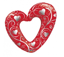 "Fooliumist õhupall ""Punane süda"" (107 cm)"