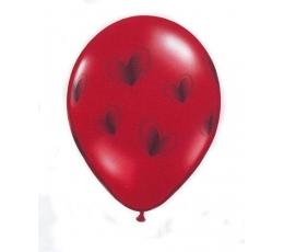 Õhupallid, musta värvi südametega (25 tk./28cm)