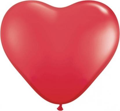 """Kummist õhupallid """"Punane süda"""" (50tk / 38cm)"""