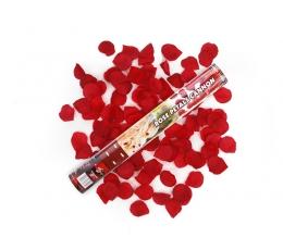 Konfetikahur punane roosi kroonleht (40 cm./1 tk.)