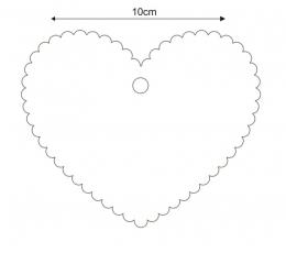 Soovide süda / punane (20 tk) 1