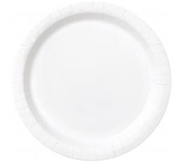 Taldrikud, valged (8 tk/18 cm)