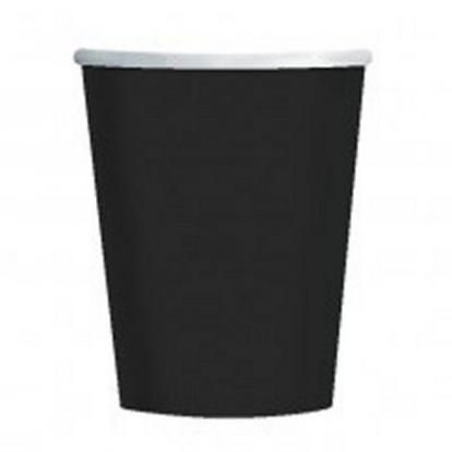 Vienkartiniai puodeliai juodi (266 ml.)